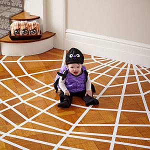 Halloween Kids Decorations - spider web on the floor