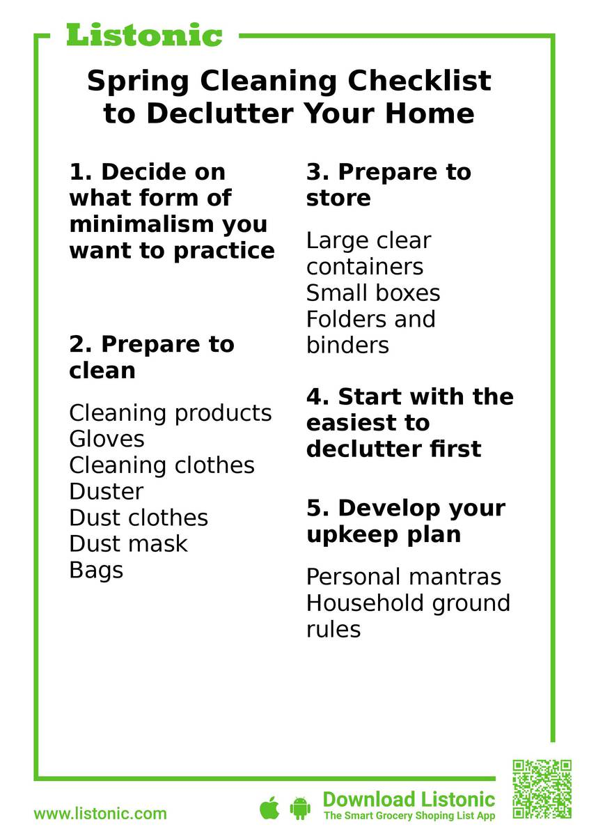 Spring Cleaning Checklist to Declutter Your Home   Listonic