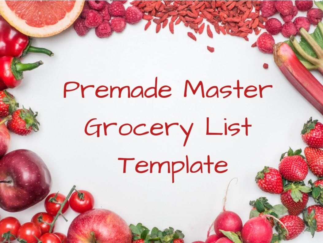 premade master grocery list