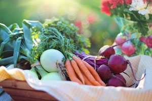 healthy grocery list for one - vegteables