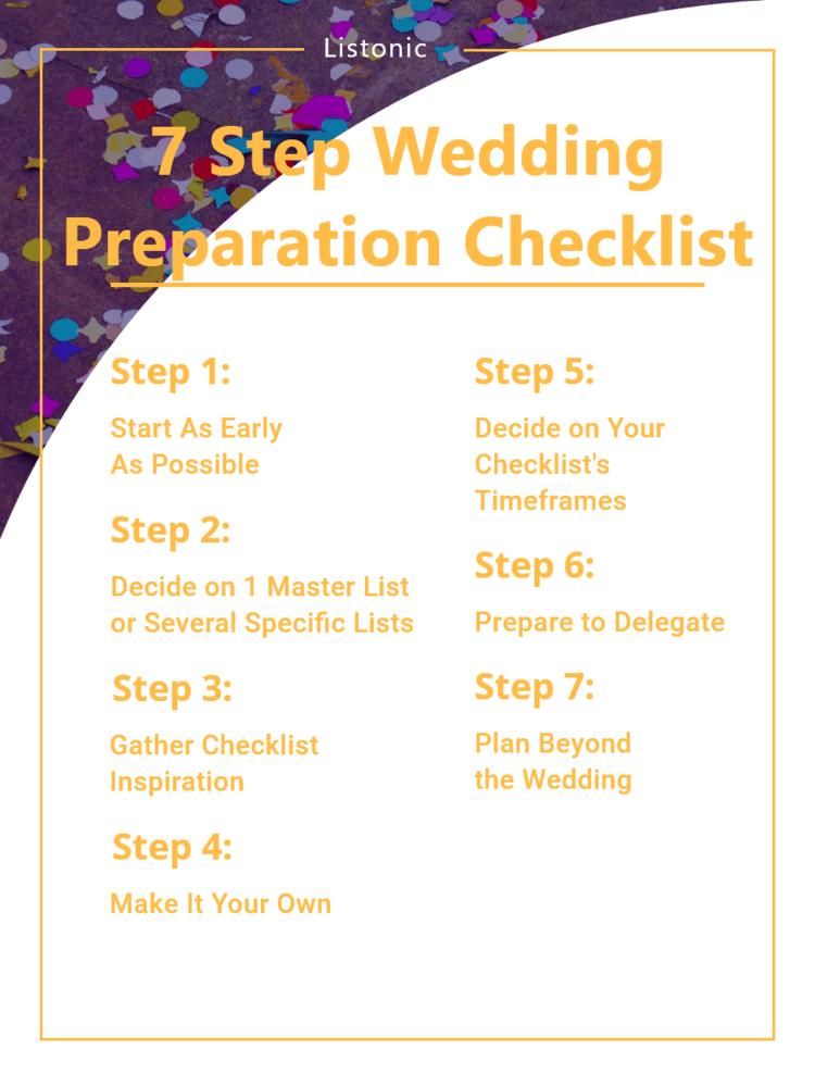 wedding preparation checklist - template