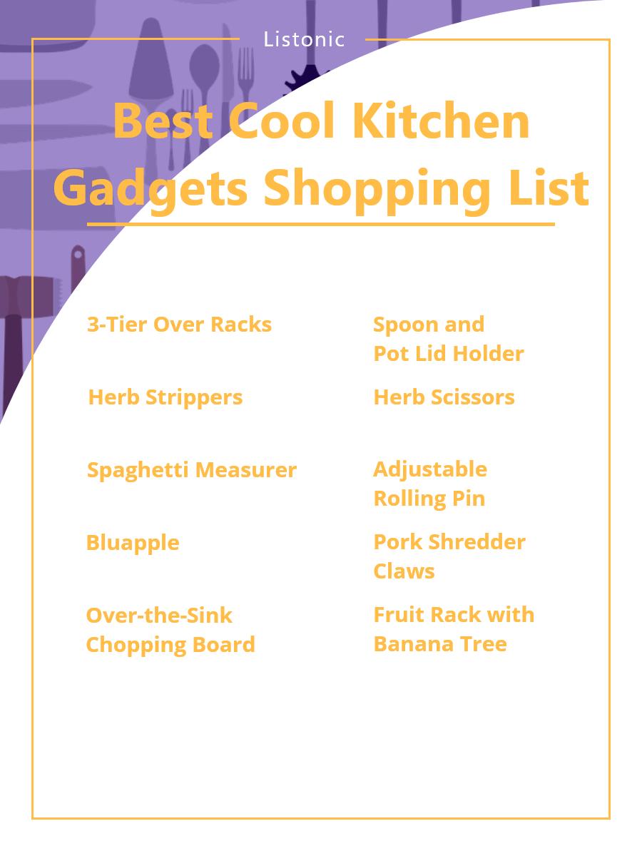 Cool Kitchen Gadgets - Shopping List Template