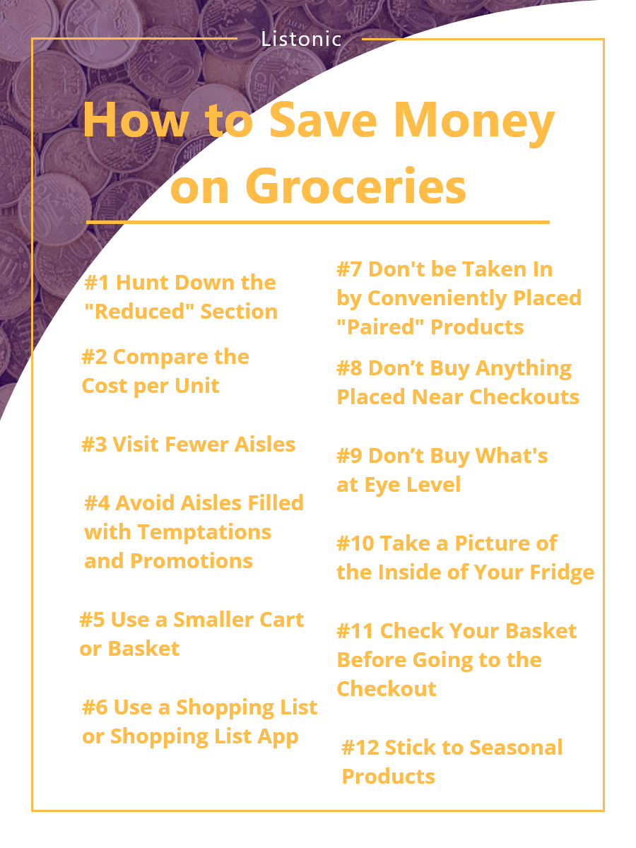 how to save money on groceries - template