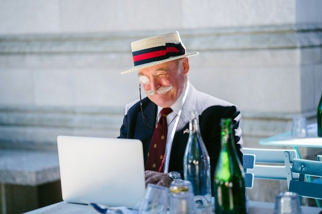 senior and tech savvy - in the game