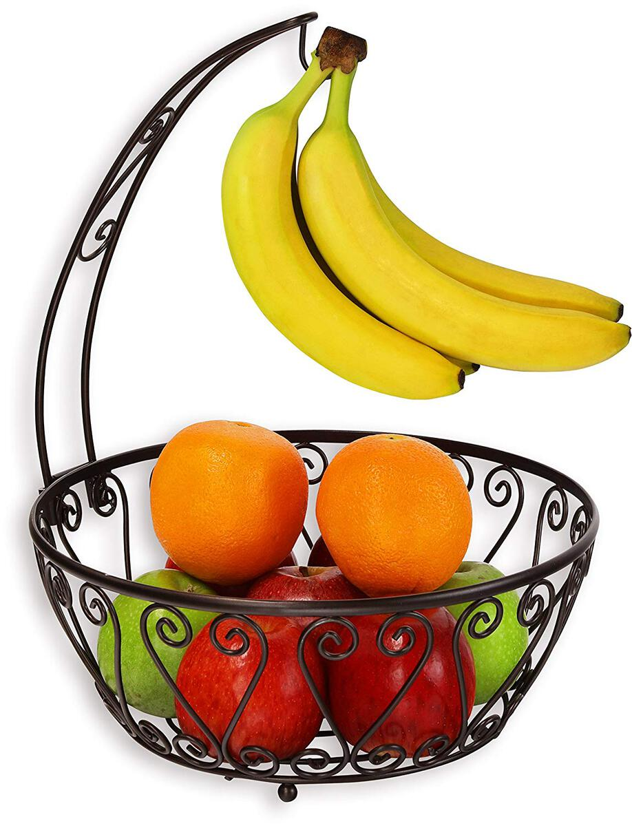 cool kitchen gadgets - fruit rack with banana tree