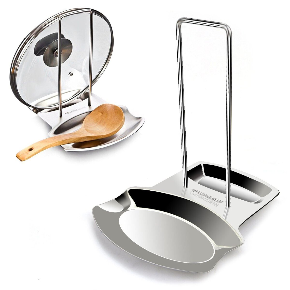 cool kitchen gadgets - spoon and lid holder