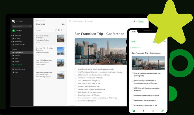 evernote - shopping list app alterantives